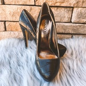 Bucco Capensis Black Snakeskin Pumps 9